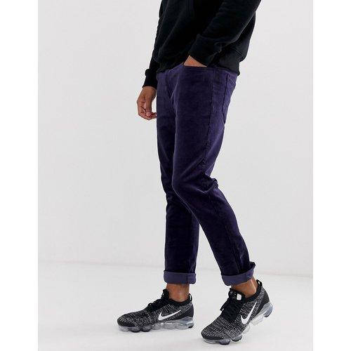 Pantalon slim en velours côtelé - Bleu marine - ASOS DESIGN - Modalova