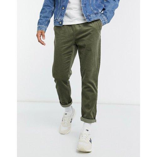 Pantalon slim en velours côtelé - Kaki - ASOS DESIGN - Modalova