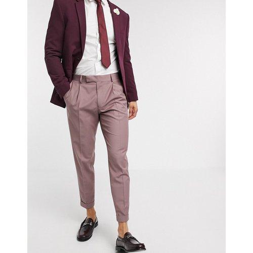 Pantalon slim habillé à revers - ASOS DESIGN - Modalova
