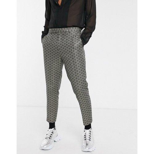 Pantalon slim habillé en jacquard - ASOS DESIGN - Modalova