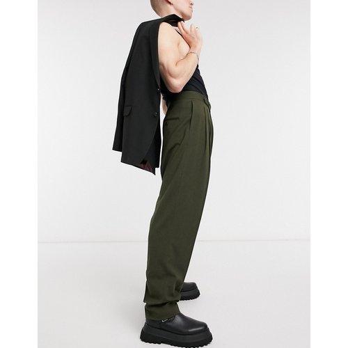 Pantalon slim habillé taille haute à micro-texture - ASOS DESIGN - Modalova