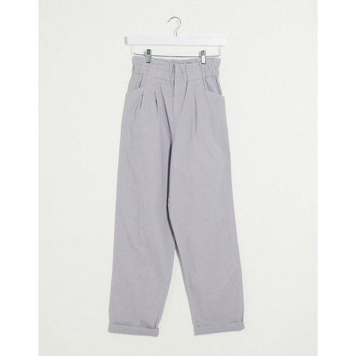 Pantalon style jogger à taille haute froncée - Gris - ASOS DESIGN - Modalova