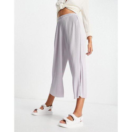Pantalon style jupe-culotte plissé - lavande - ASOS DESIGN - Modalova