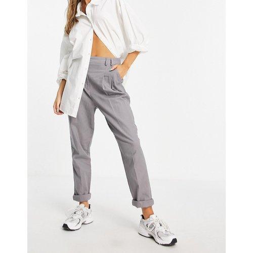 Pantalon taille haute slim à pinces en lin - ASOS DESIGN - Modalova