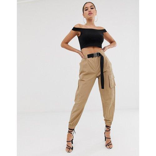 Pantalon taille haute style militaire avec ceinture - ASOS DESIGN - Modalova