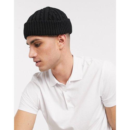 Petit bonnet style marin en maille torsadée - ASOS DESIGN - Modalova