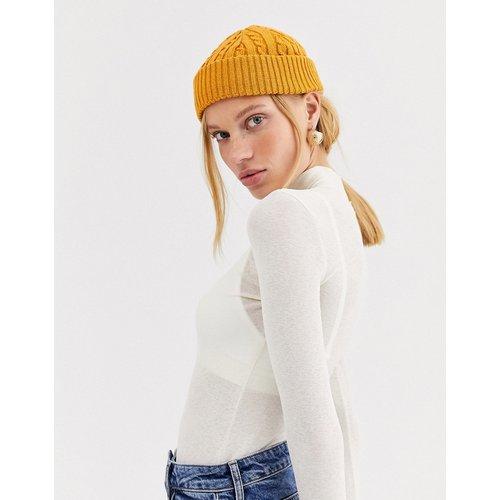 Petit bonnet style pêcheur en maille torsadée recyclée - ASOS DESIGN - Modalova