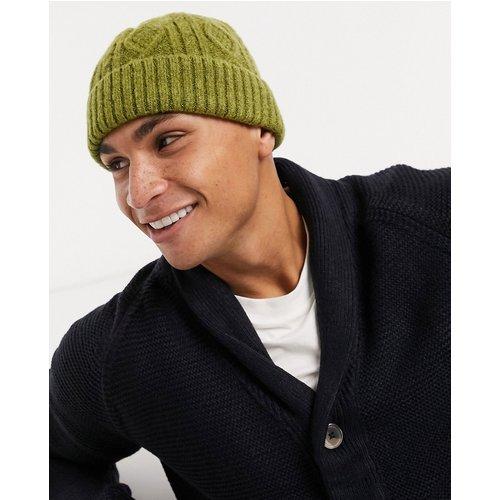 Petit bonnet style pêcheur en maille torsadée - ASOS DESIGN - Modalova
