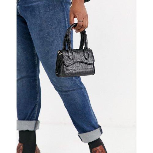 Petit sac à anses avec rabat arrondi et bandoulière amovible - ASOS DESIGN - Modalova