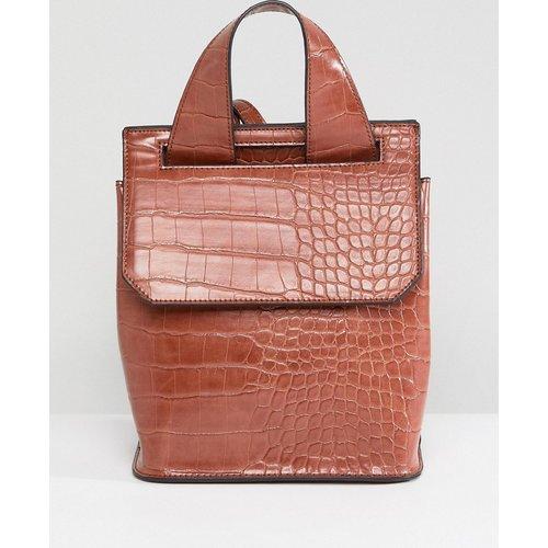 Petit sac à dos aspect croco - ASOS DESIGN - Modalova