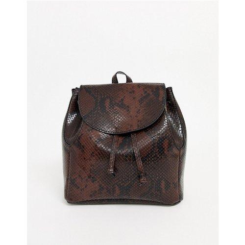 Petit sac à dos minimaliste souple motif serpent - ASOS DESIGN - Modalova