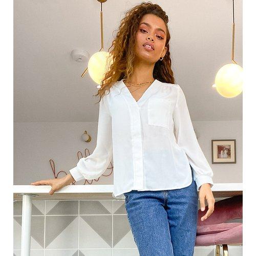 ASOS DESIGN Petite - Blouse à manches longues avec poche - ASOS Petite - Modalova