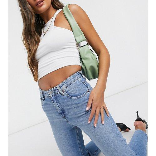 ASOS DESIGN Petite - Farleigh - Jean mom slim taille haute délavé - ASOS Petite - Modalova