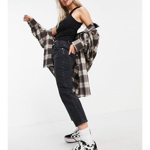ASOS DESIGN Petite -Jean droit slim stretch à taille haute - délavé - ASOS Petite - Modalova