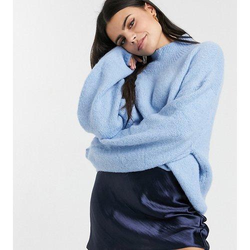 ASOS DESIGN Petite - Mini-jupe en satin ultra brillant - Bleu marine - ASOS Petite - Modalova