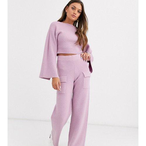 ASOS DESIGN Petite - Pantalon en maille côtelée d'ensemble avec poches - ASOS Petite - Modalova