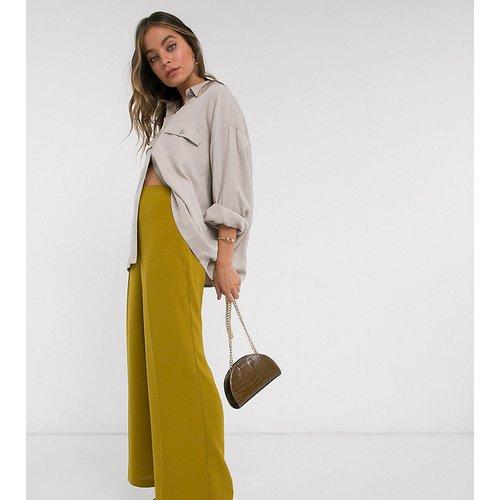 ASOS DESIGN Petite - Pantalon large à taille haute épurée - ASOS Petite - Modalova