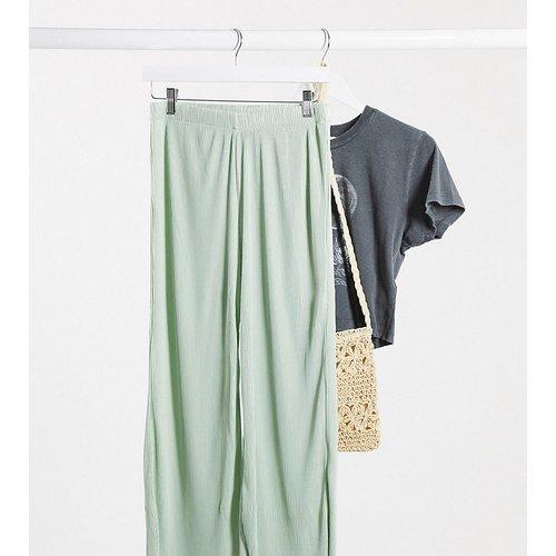 ASOS DESIGN Petite - Pantalon plissé style jupe-culotte - sauge - ASOS Petite - Modalova