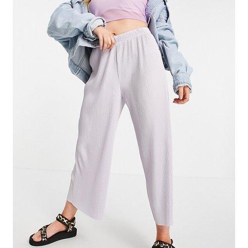 ASOS DESIGN Petite - Pantalon style jupe-culotte plissé - lavande - ASOS Petite - Modalova