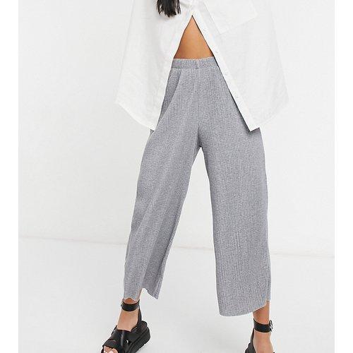 ASOS DESIGN Petite - Pantalon style jupe-culotte plissé - chiné - ASOS Petite - Modalova