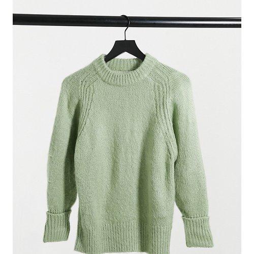 ASOS DESIGN Petite - Pull oversize en laine brossée - Vert cendré - ASOS Petite - Modalova