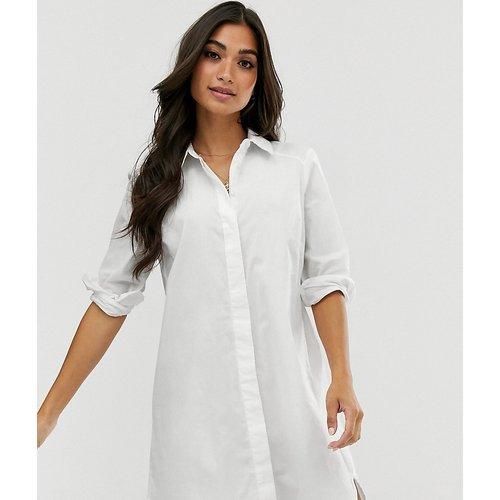 ASOS DESIGN Petite -Robe chemise courte en coton - ASOS Petite - Modalova