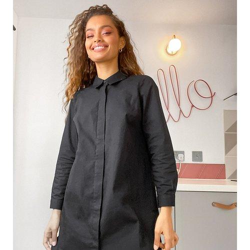ASOS DESIGN Petite - Robe chemise courte en coton - ASOS Petite - Modalova