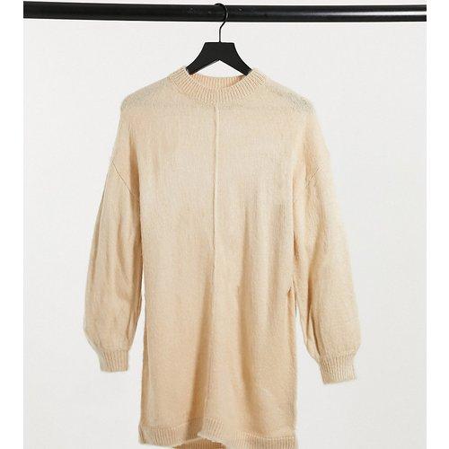 ASOS DESIGN Petite - Robe en maille brossée - Avoine - ASOS Petite - Modalova