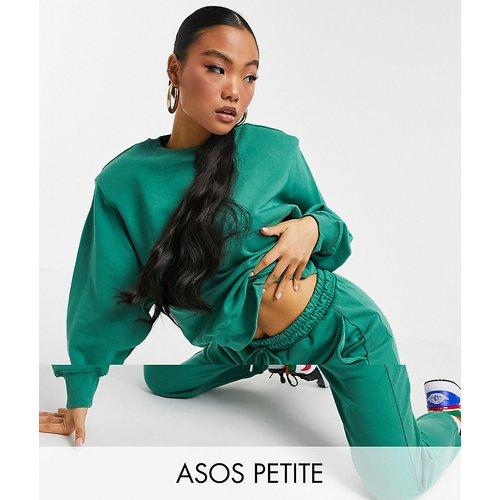 ASOS DESIGN Petite - Survêtement oversize avec sweat-shirt à épaulettes et jogger - ASOS Petite - Modalova