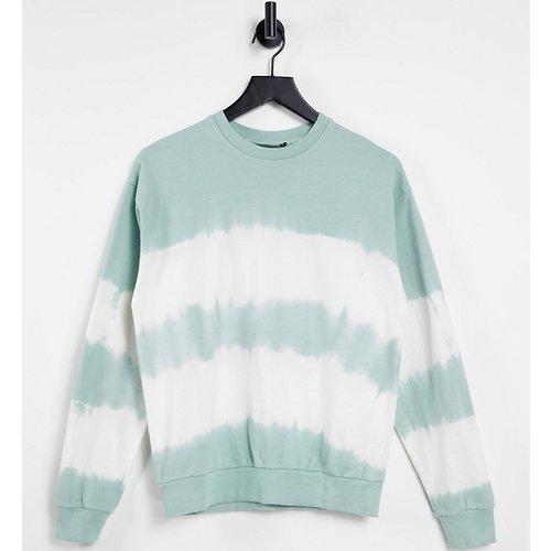 ASOS DESIGN Petite - Sweat-shirt à rayures style tie-dye - ASOS Petite - Modalova