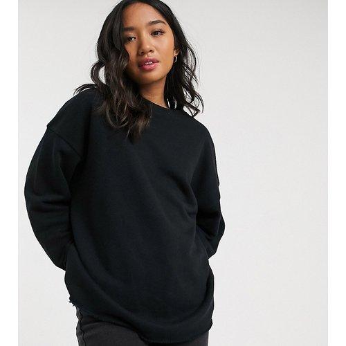 ASOS DESIGN Petite - Sweat-shirt oversize texturé - ASOS Petite - Modalova