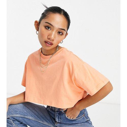 ASOS DESIGN Petite - T-shirt super crop top - Abricot - ASOS Petite - Modalova