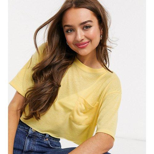 ASOS DESIGN Petite - T-shirt super crop top en lin mélangé - ASOS Petite - Modalova