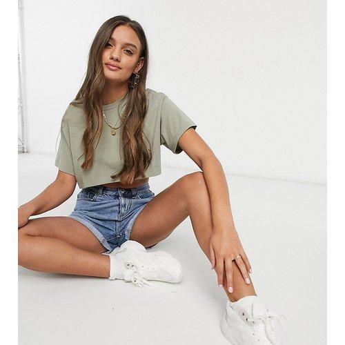 Petite - T-shirt super crop top - Olive - ASOS DESIGN - Modalova