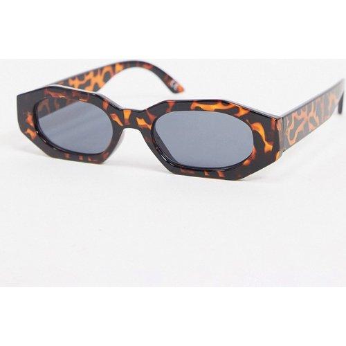 Petites lunettes de soleil rectangulaires - Écaille de tortue - ASOS DESIGN - Modalova
