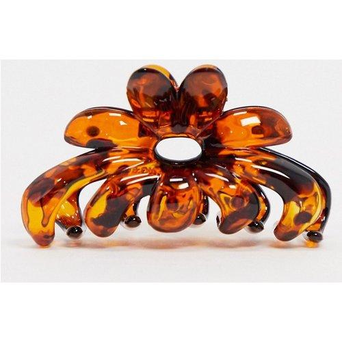 Pince à cheveux fleur effet écailles de tortue - ASOS DESIGN - Modalova