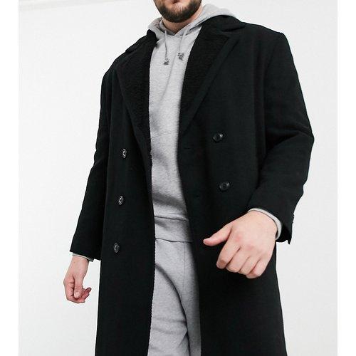 Plus - Manteau en laine mélangée avec doublure pelucheuse - ASOS DESIGN - Modalova