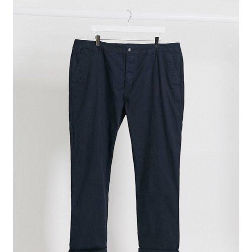 Plus - Pantalon chino ajusté - Bleu marine - ASOS DESIGN - Modalova