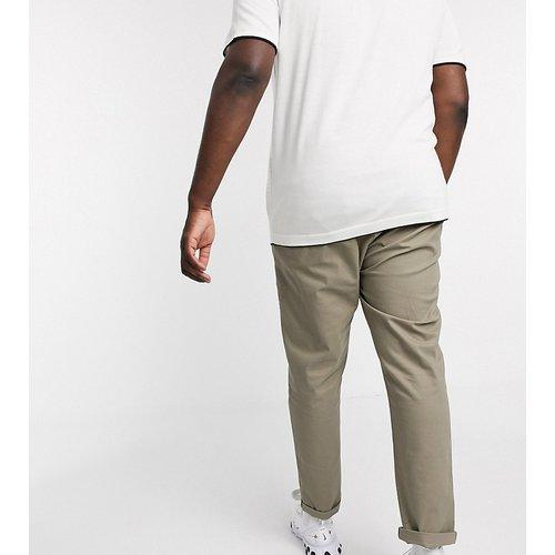 Plus - Pantalon chino slim - Kaki clair - ASOS DESIGN - Modalova