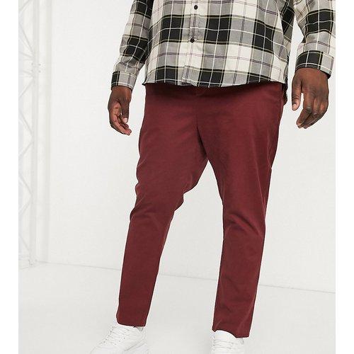 Plus - Pantalon chino slim longueur chevilles - Bordeaux - ASOS DESIGN - Modalova