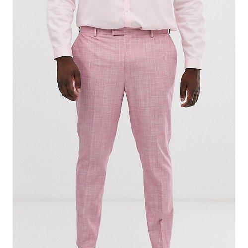 Plus - Pantalon de costume de mariage slim à motif hachuré - thé - ASOS DESIGN - Modalova