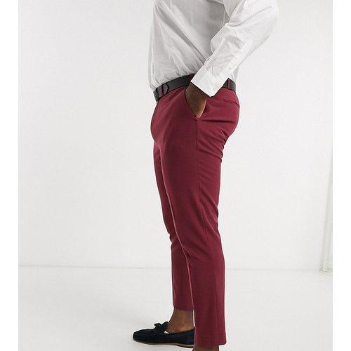 Plus - Pantalon de costume super slim - Bordeaux - ASOS DESIGN - Modalova