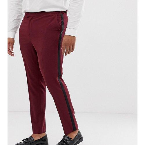Plus - Pantalon de smoking de bal de promo coupe skinny - Prune - ASOS DESIGN - Modalova