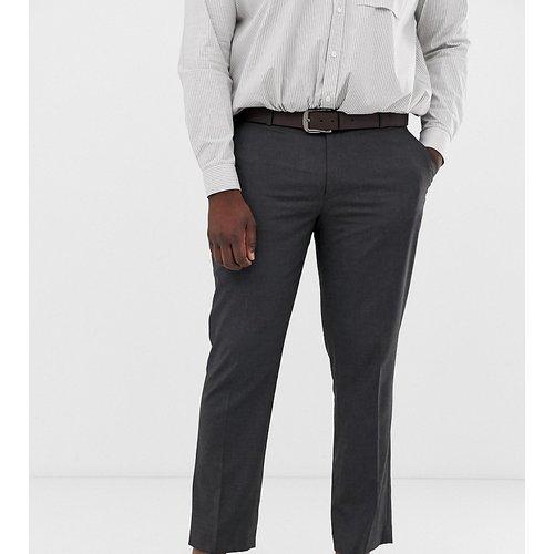 Plus - Pantalon slim habillé - Anthracite - ASOS DESIGN - Modalova