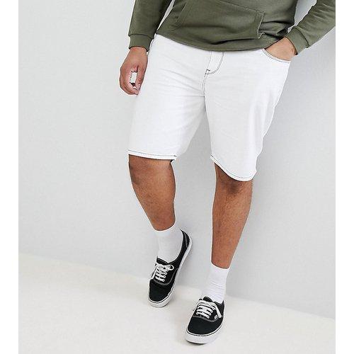Plus - Short slim en jean à surpiqûres contrastantes blanches - ASOS DESIGN - Modalova