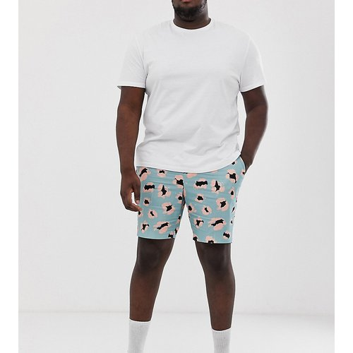 Plus - Short slim habillé à imprimé léopard - ASOS DESIGN - Modalova