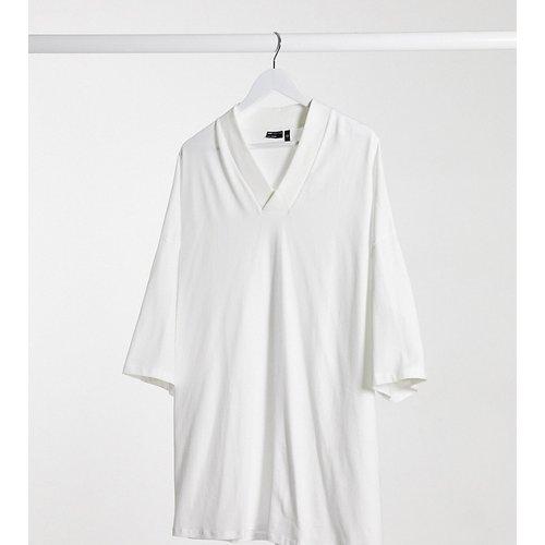 Plus - T-shirt col V oversize - ASOS DESIGN - Modalova