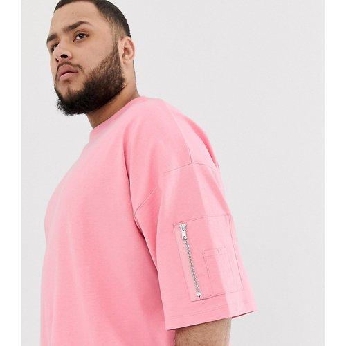 Plus - T-shirt long oversize avec poche MA1 - ASOS DESIGN - Modalova