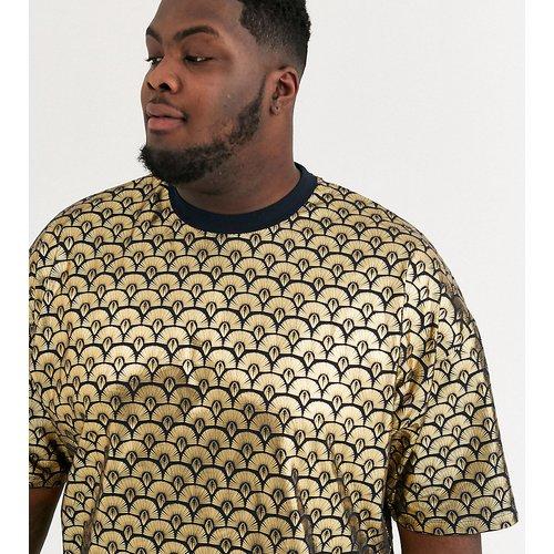 Plus - T-shirt oversize à imprimé décoratif métallisé sur l'ensemble - ASOS DESIGN - Modalova