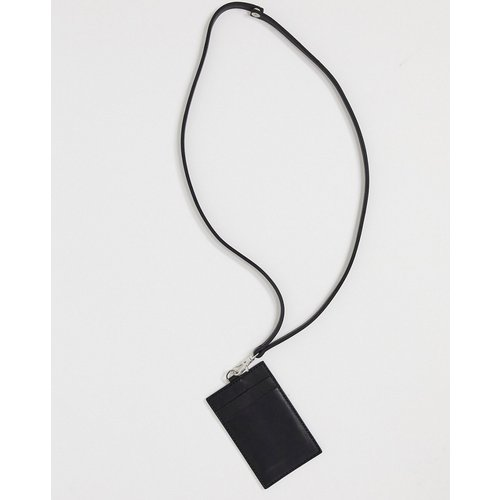 Portefeuille amovible en cuir avec tour de cou et fentes pour cartes - ASOS DESIGN - Modalova